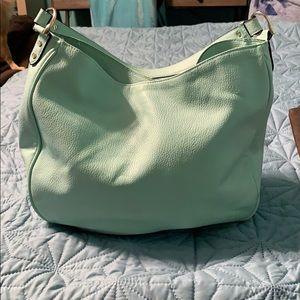No brand mint green shoulder bag